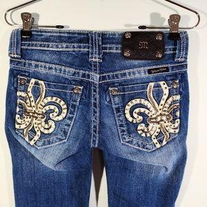 Miss Me Jeans | Fleur De Lis Capris Size 0 - 2 XS